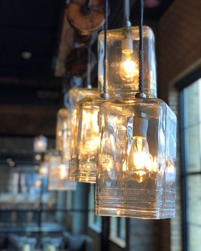 lampe en bouteille recyclé